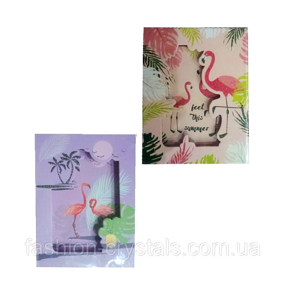 Блокнот с замком фламинго