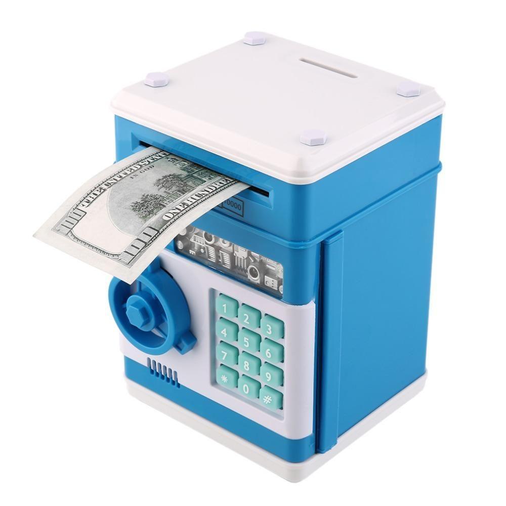 Электронная копилка сейф c кодовым замком Number Bank hm, Синий