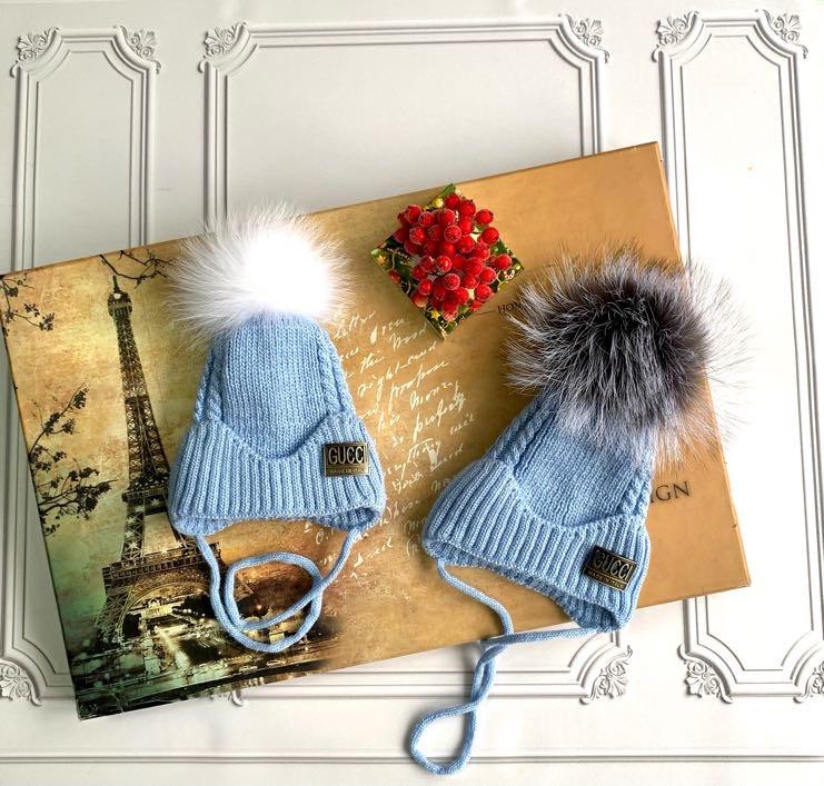 Зимняя шапка для новорождённых Gucci