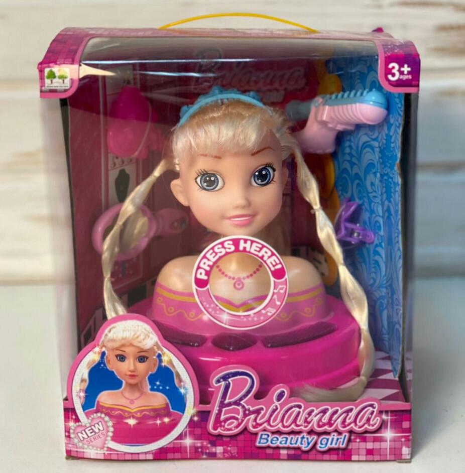 Лялька L-89A-2 голова для зачісок, лялька-манекен, музика і світло
