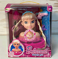 Лялька L-89A-2 голова для зачісок, лялька-манекен, музика і світло, фото 1