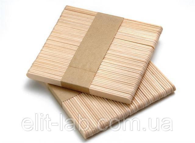 Вузький Дерев'яний шпатель для нанесення воску 100 шт/уп