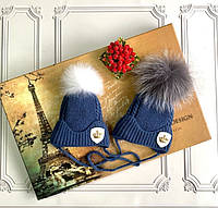 Зимняя шапка для новорождённых