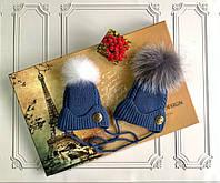 Зимняя шапка для новорождённых Versace