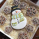 "Подарочный набор""Снеговик и снежинки"", корока 21х21 см, фото 5"