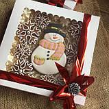 "Подарочный набор""Снеговик и снежинки"", корока 21х21 см, фото 4"