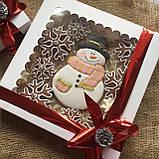 "Подарочный набор""Снеговик и снежинки"", корока 21х21 см, фото 8"