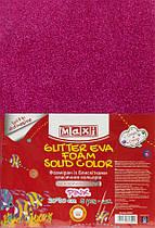 Фоамиран 2 мм с блестками на клейкой основе, 20х30 см,розовый MX61854