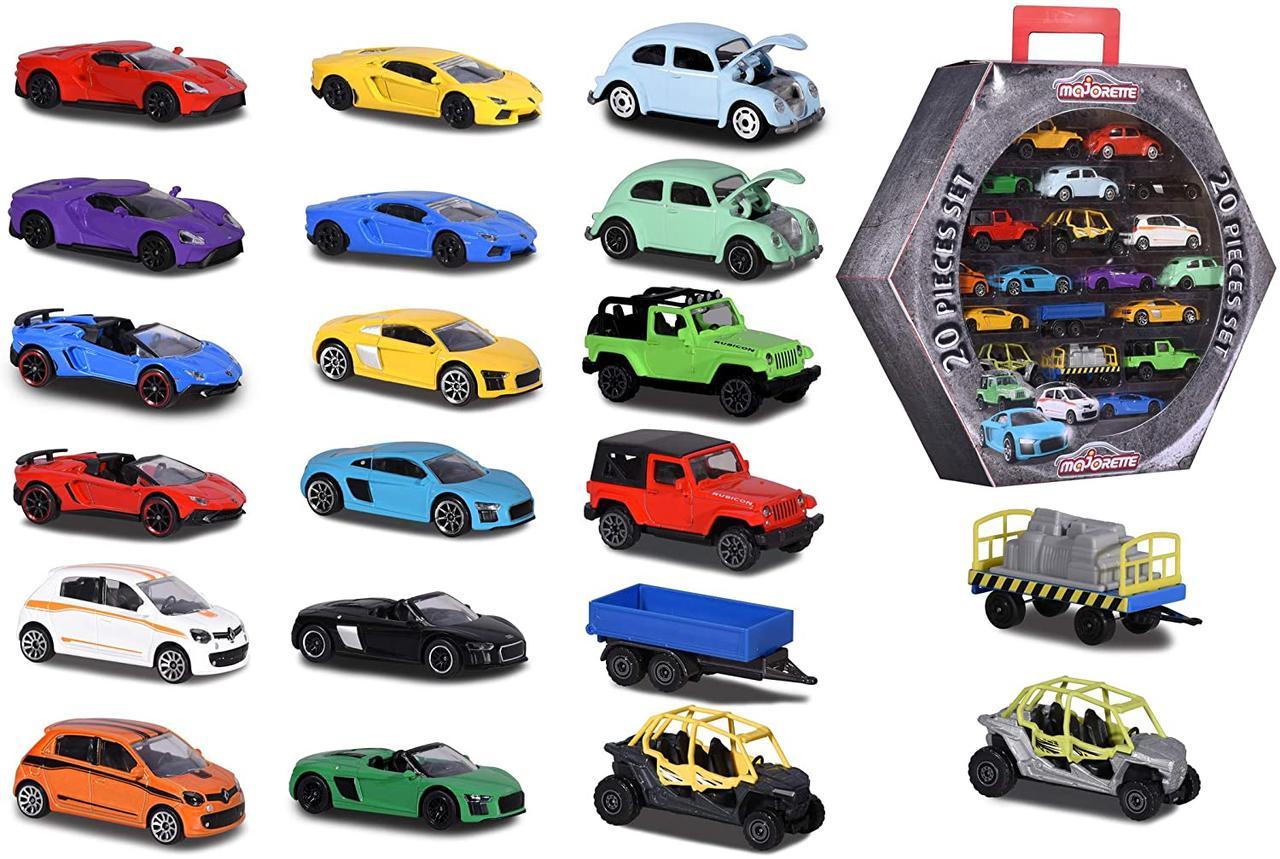 Набор машинок металлических Majorette Шестигранник с автомобилями  2058595