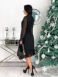 Платье женское нарядное бежевый, чёрный, белый, лиловый, кофейный, фото 10