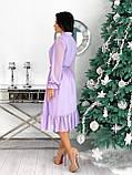 Платье женское нарядное бежевый, чёрный, белый, лиловый, кофейный, фото 9