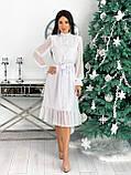 Платье женское нарядное бежевый, чёрный, белый, лиловый, кофейный, фото 2