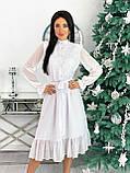 Платье женское нарядное бежевый, чёрный, белый, лиловый, кофейный, фото 5