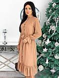 Платье женское нарядное бежевый, чёрный, белый, лиловый, кофейный, фото 6