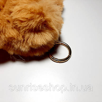 Брелок Зайка 14см искусственный мех, фото 2