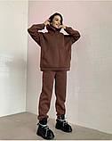 Теплый женский костюм с удлиненным объемным худи 39-584, фото 2
