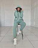 Теплый женский костюм с удлиненным объемным худи 39-584, фото 5