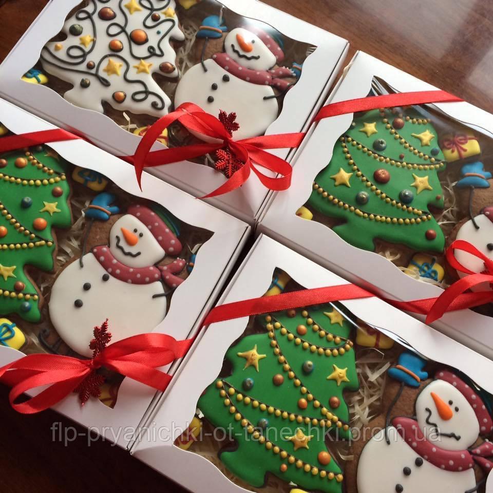 """Подарочный набор""""Снеговик и елка"""", корока 20х15 см"""
