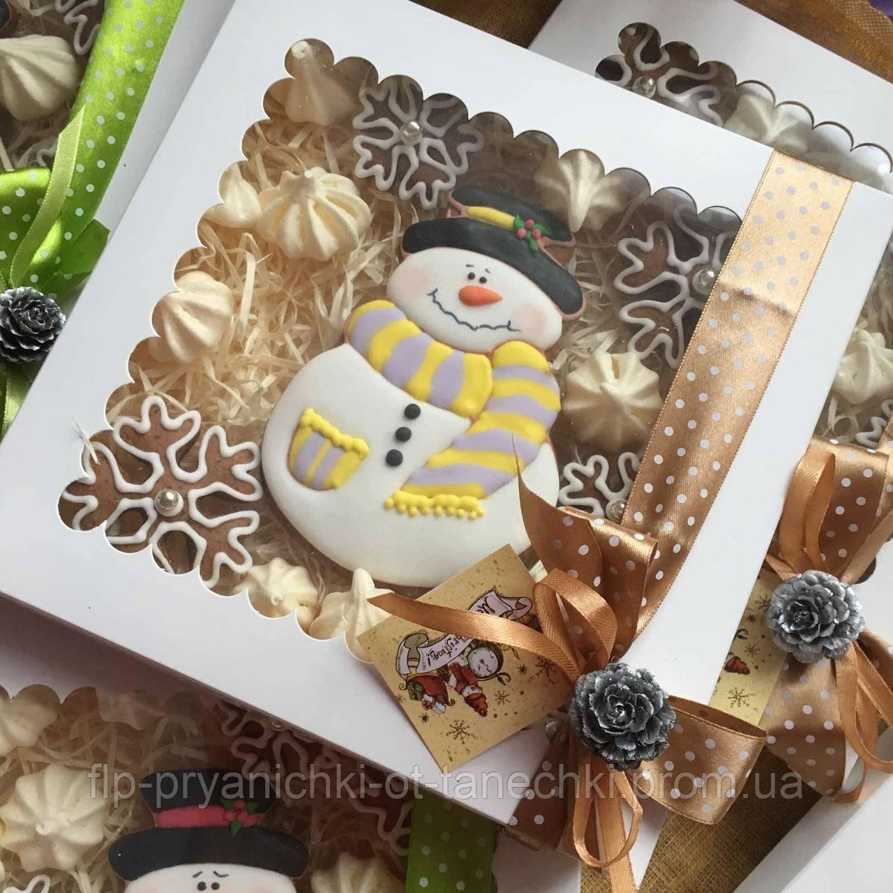 "Подарочный набор""Снеговик и снежинки"", корока 21х21 см"