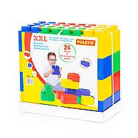 """Конструктор будівельний """"XXL"""", 24 елемента + з'єднувач (24 елемента)"""