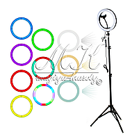 Кольцевая LED лампа с креплением RGB-MJ26 (26см)
