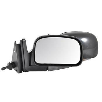 Зеркало ВАЗ 2107/ ВАЗ 2104/ ВАЗ 2105 черное с поворотом Vitol