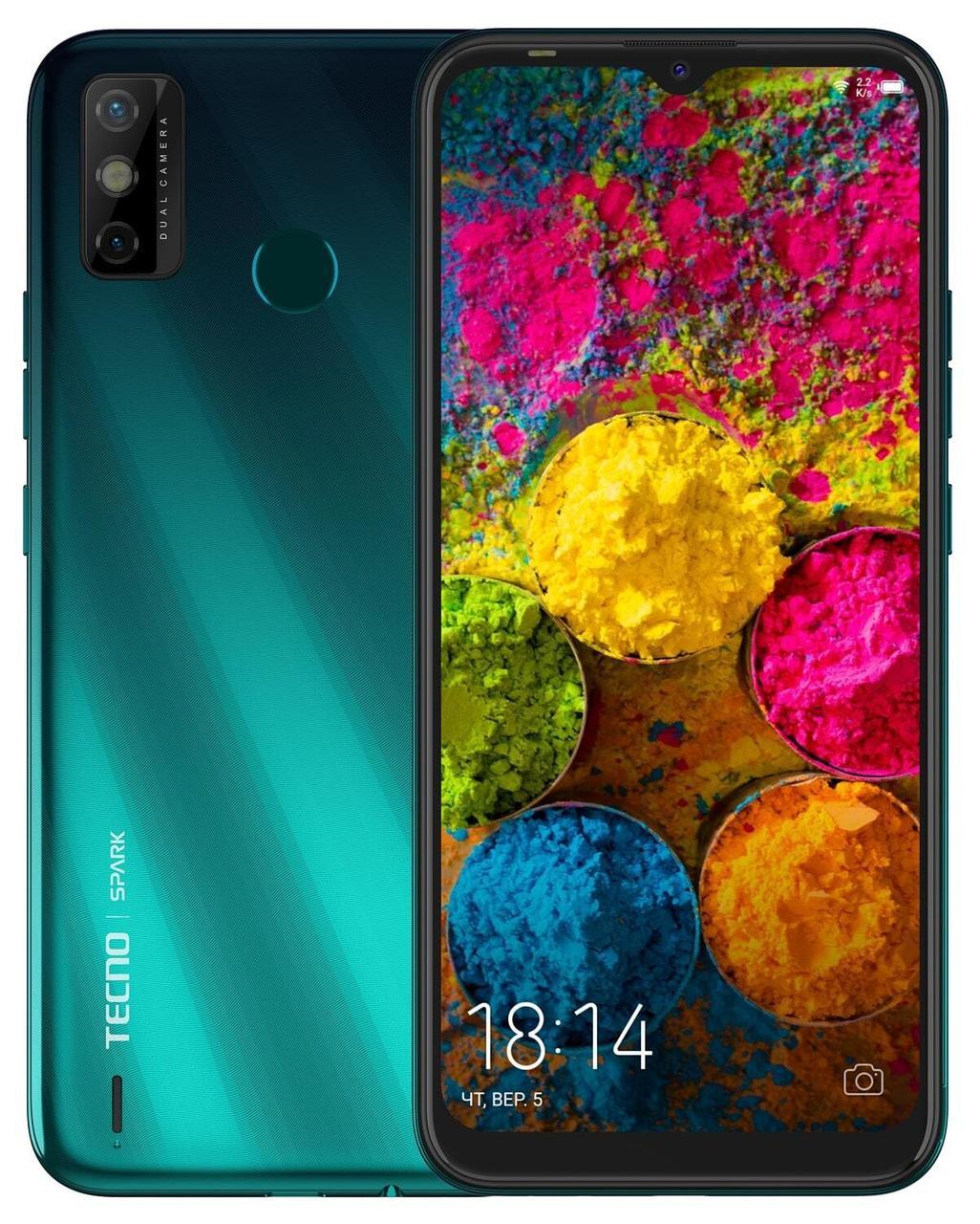 Смартфон TECNO Spark 6 Go 2/32 Gb Ice Jadeite Helio A20 5000 мАч