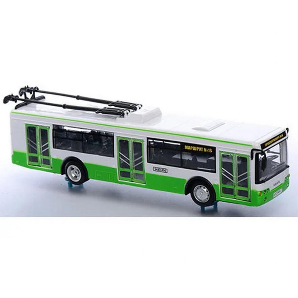 Игрушечный троллейбус Автопром 9690AB Зелёный