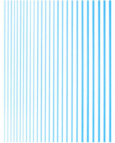 Гибкая прямая лента для ногтей  голубой металлик