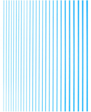 Гнучка пряма стрічка для нігтів блакитний металік