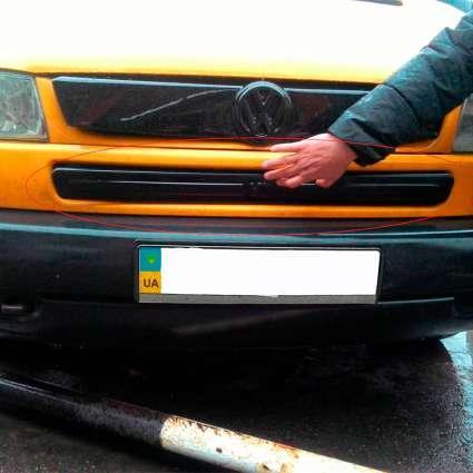 """Зимняя накладка Volkswagen T4 2000-2003 Бампер матовая """"FLY"""""""