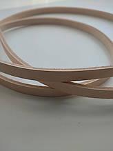 Ременная полоса из кожи растительного дубления 10 мм, толщина 3,6 - 4,0 мм