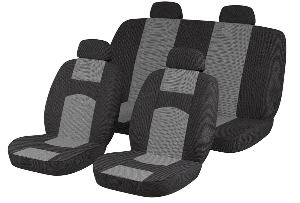 Авто Чехлы ВАЗ 2107 черно-серые Tuning