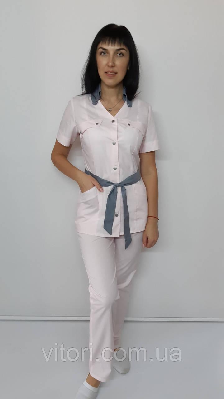 Жіночий медичний костюм Тіффані бавовна короткий рукав