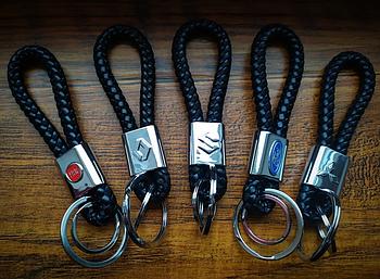 Брелок Nissan для автомобильных ключей Эко кожа косичка