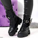 Дизайнерские черные женские ботинки с съемными кошельками сумочками 36-23,5 / 41-26,5см, фото 10
