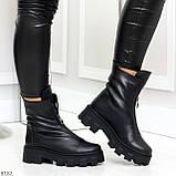 Мега удобные модельные зимние черные женские ботинки натуральная кожа, фото 9