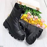 Мега удобные модельные зимние черные женские ботинки натуральная кожа, фото 10
