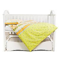 Сменная постелька в детскую кроватку для новорожденных Twins Comfort С-027 Утята 3 елемента, зеленая