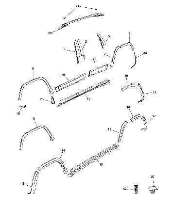 Накладка крила перед праве Fender Flare Wheel Molding (68210314AE) Jeep Cherokee, Джип Черокі (KL) 2014-18г., фото 2