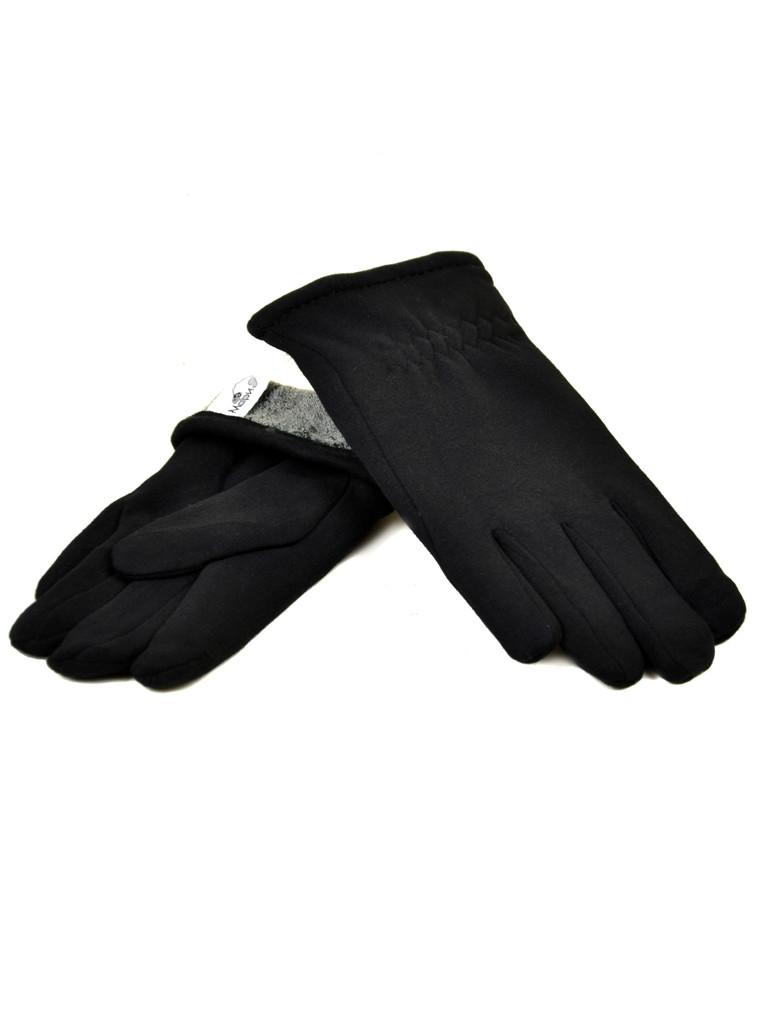 Перчатка Мужская стрейч M1/17 мод4 black махра
