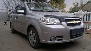 Дефлектор капота (мухобойка) Chevrolet Aveo 2006-2011 /седан
