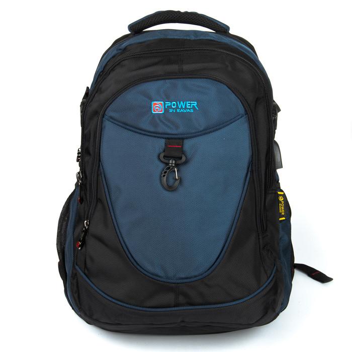 Рюкзак Городской нейлон Power In Eavas 8512 black-blue