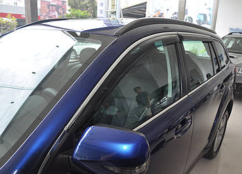 Дефлектори вікон (вітровики) Peugeot 508 2011 - Combi З Молдингом Хром