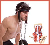 Тяга для шиї. Упряж для тренування м'язів шиї Лямки на голову. Тренажер для тренування м'язів шиї Матеріал - шкіра