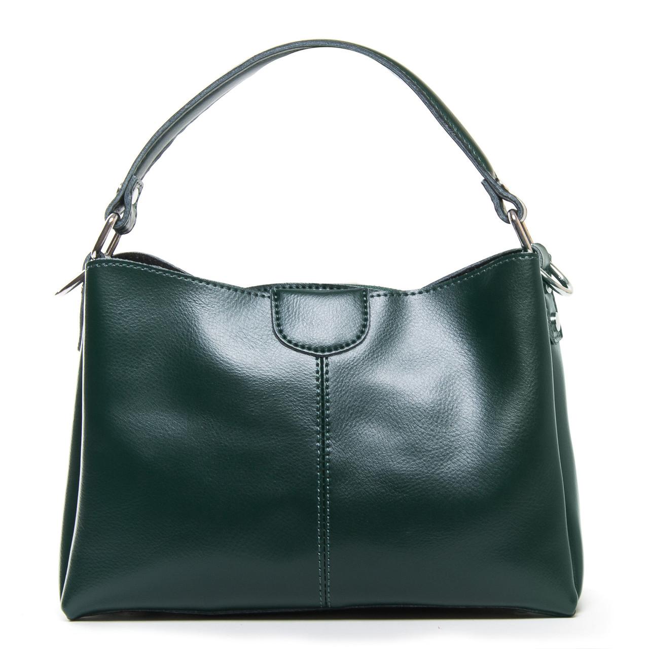 Сумка Женская Классическая кожа ALEX RAI 9-01 1383 green