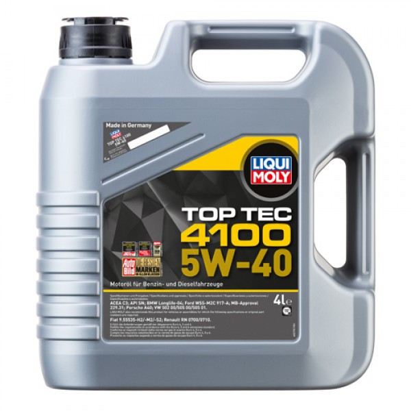 Синтетичне моторне масло - Top Tec 4100 SAE 5W-40 4 л.