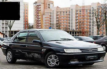Дефлектори вікон (вітровики) Peugeot 605 Sd 1989-2000