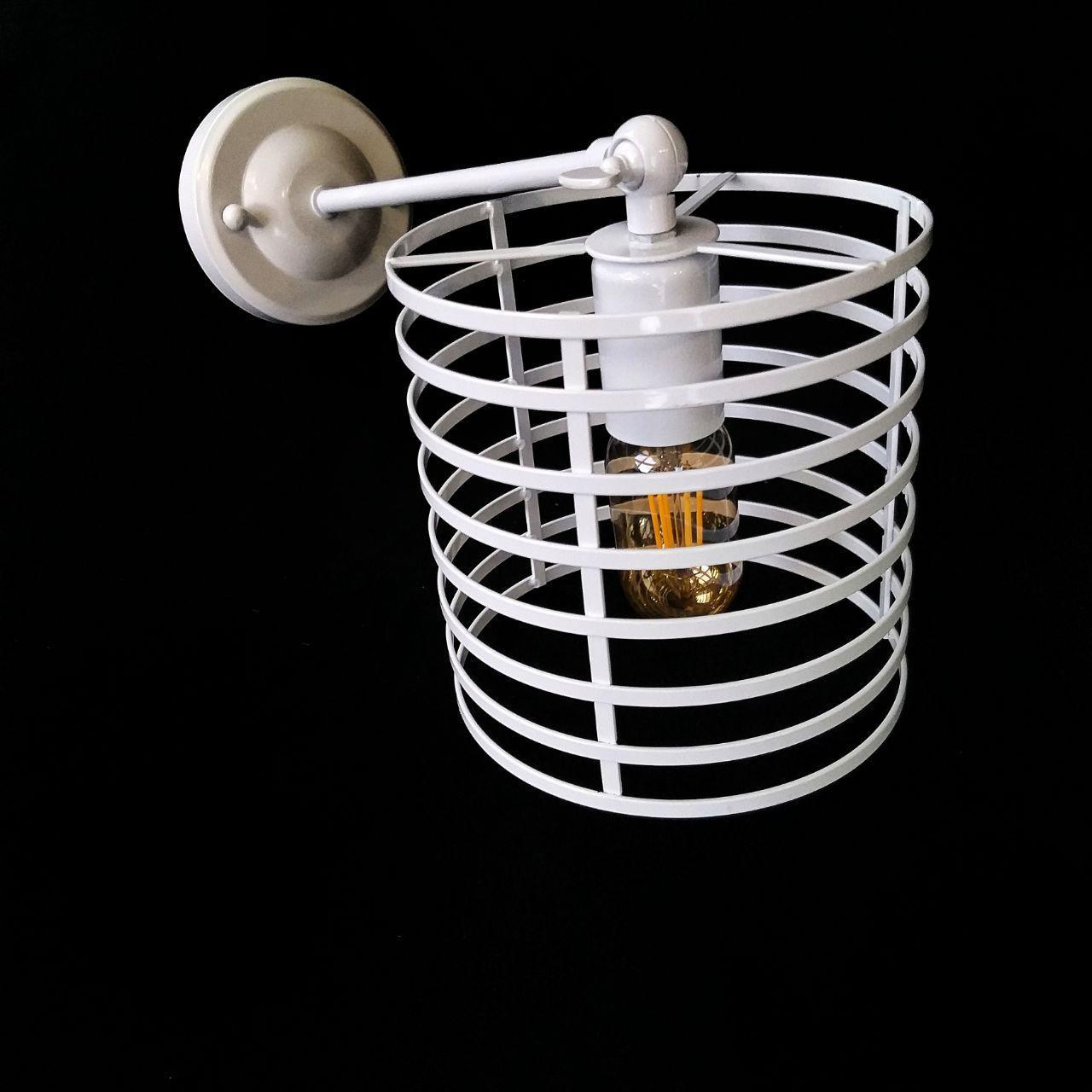 Бра на одну лампу в стилі лофт біле поворотне YS-TY001-M/1W WH