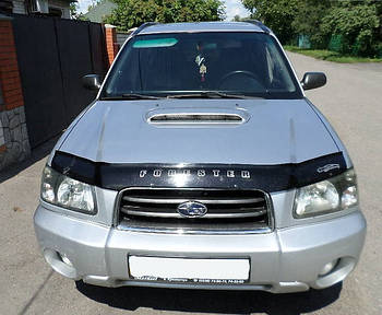 Дефлектор капоту (мухобійка) Subaru Forester 2002-2006